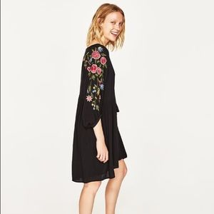 Zara Embroidered Tunic Dress